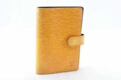 LOUIS VUITTON Epi Agenda PM Day Planner Cover Yellow R20059 LV Auth cr053