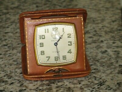 Waltham 8 Day Car Clock Square Model Open Face