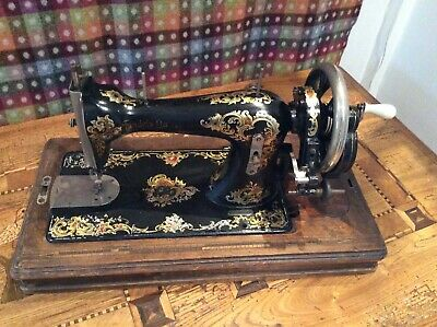 """Lovely Vintage Handcranked Sewing Machine """"Faudels of London"""""""