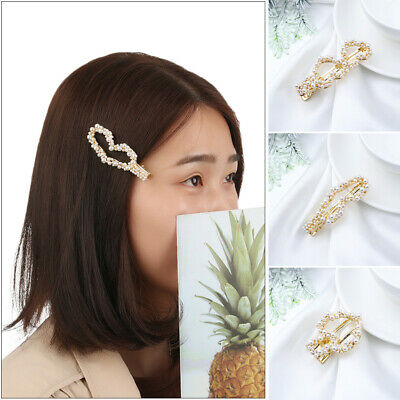 Sweet Hair Accessories Headwear Pearl HairClips Cute Hairpin Waterdrop Hairgrip