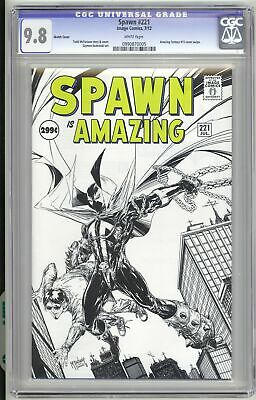 Spawn #221 1:25 Sketch Variant CGC 9.8  Todd McFarlane Cover | 1 300 9    3130F