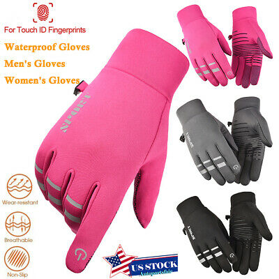 Women Men Winter Warm Full-finger Gloves Windproof Thermal Touch Screen Mittens