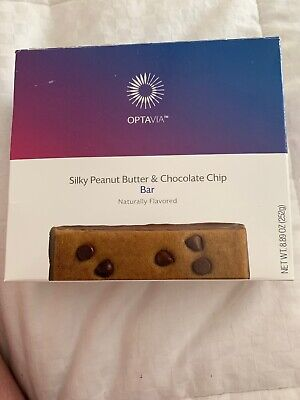 Optavia Medifast Silky Peanut Butter & Chocolate Chip Bar  - 7 Bars - New