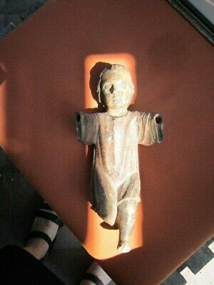 Santos Figure Probably 19th C from Great Collection Great Patina Well Cared For