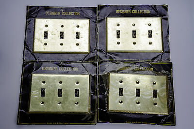 Decorator Series by Edmar Creations Toggle Brass Light Switch Plate Cover New