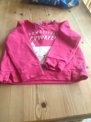 baby girls joules top 12-18 months