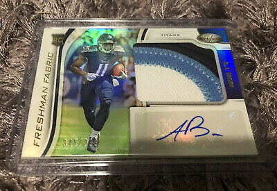 A.J. Brown 2019 Panini Certified Freshman Fabric RPA #345/399 Tennessee Titans