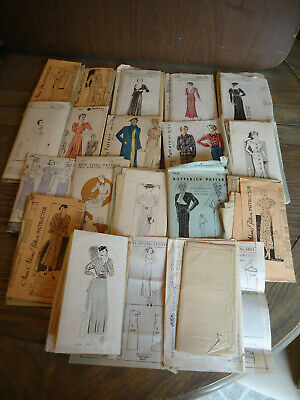 Early vintage sewing patterns, womens slip, dresses, lot, Anne Adams, Butterick