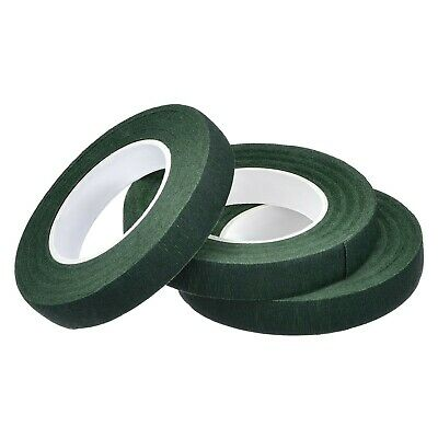 3 Pack Florist Stem Tape 1/ 2 Inch x 90 Feet (Dark Green) Dark Green