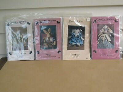 Lot of 4 Brand New Country Stitches Toy Bunny Sewing Pattern/Instructions