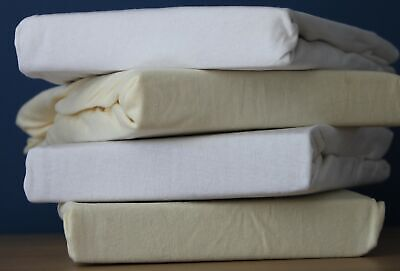 Dudu N Girlie Jersey Cotton Single Travel Cot Fitted Sheet 65 cm x 95 cm White