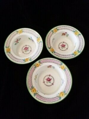 3 Cauldon England ramekins with yellow roses