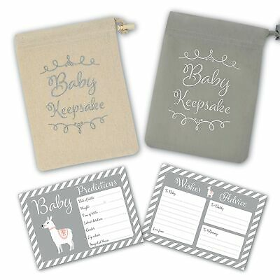 Baby Shower Game - 30 Baby Prediction/Advice/Wishes Cards - Includes Keepsake...