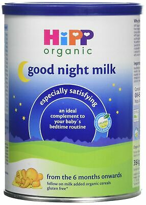 HiPP Organic From 6 Months Good Night Milk 350 g (Pack of 4)
