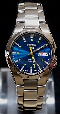 SNK615K1 SEIKO 5 Stainless Steel Band Automatic Men's Blue Watch SNK615 Original