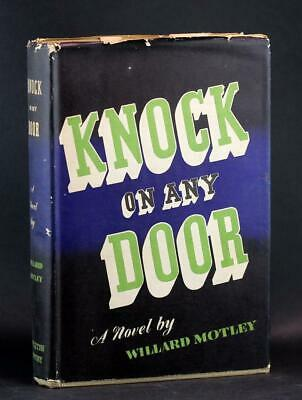 Willard Motley 1947 First Edition Knock on Any Door Hardcover w/Dustjacket