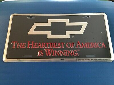 1980/'s THE HEARTBEAT OF AMERICA CHEVROLET BOOSTER License Plate