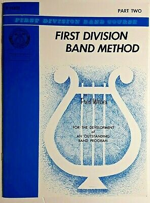 First Division Band Method, Part Two - For Flute, By Fred Weber