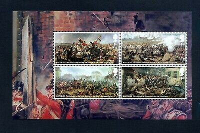 GB 2015 Booklet pane BATTLE OF WATERLOO  SG 3725a  MNH / UMM FV£4.22