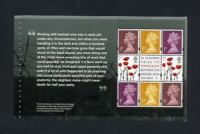 GB 2015 Booklet pane 1915 FIRST WORLD WAR  SG U3070c  MNH / UMM FV£4.18