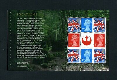 GB 2015 Booklet pane STAR WARS  SG U3095a  MNH / UMM FV£5.42