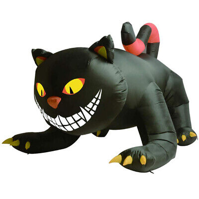 6 ft Animated Blow Up Inflatable Witch's Black Cat for Halloween