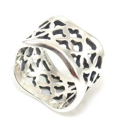 James Avery Rare Retired Sterling Silver Open Cut Tulip Wavy Band Ring Size 5.25