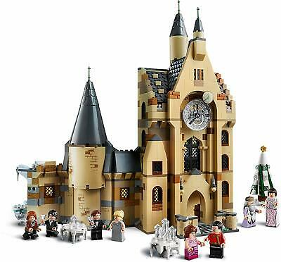 LEGO Harry Potter The Goblet of Fire Hogwarts Clock Tower Castle w/ Hermione Ron