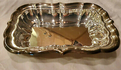 "Reed & Barton Sterling Silver Rectangular Bowl 11.5"" by 8.5"" 494g Scrap or Use"