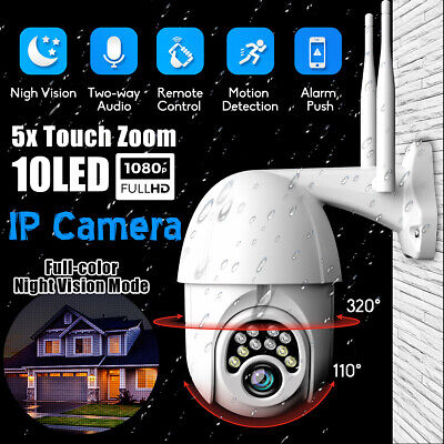 1080P Security IP Camera Outdoor Video Wireless Waterproof Home Motion Detection