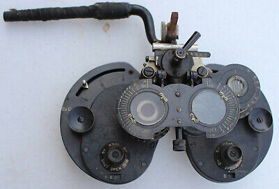 Rare Antique 1920s General Optical Co Genothalmic Refractor Phoropter Eye Doctor