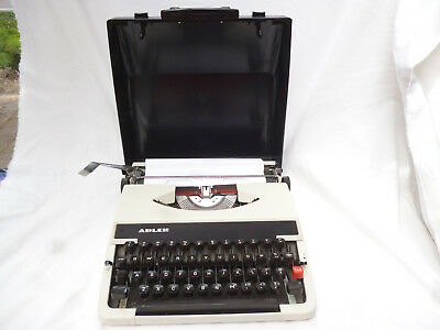 VINTAGE PORTABLE ADLER TYPEWRITER in CARRY CASE