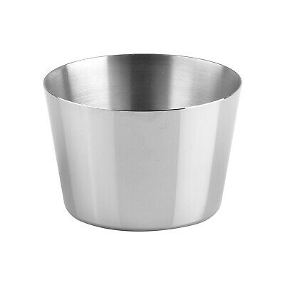 12x Pudding Mould Stainless Steel 75x42mm Panacotta Dariole Sauce Cup