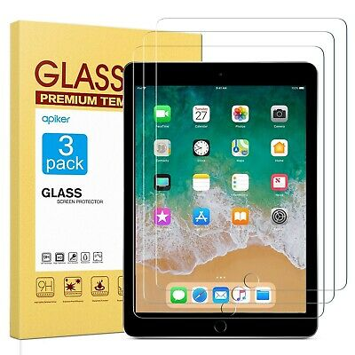 """Apiker [3 Pack] Screen Protector Compatible for New iPad 9.7"""" (2018 & 2017) /..."""