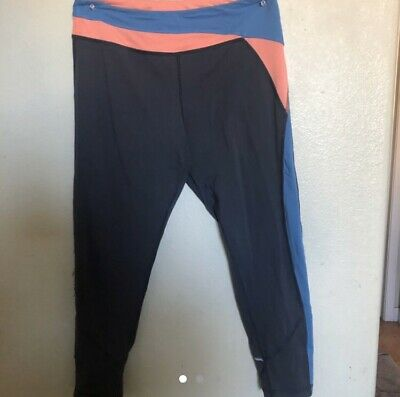 Ivivva gray, pink, and blue leggings Sz 14