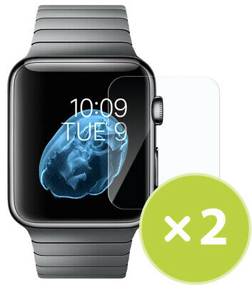2X TEMPERED 9H GLASS SCREEN PROTECTOR FOR APPLE WATCH (SERIES 1/2/3, 42mm)