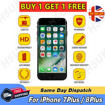 Genuine Premium Gorilla Tempered Glass Screen Protector Apple iPhone 7Plus