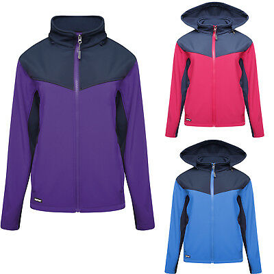 Womens Soft Shell Fleece Lined Ladies Hooded Windproof Breathable Work Jackets