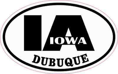 4in x 2.5in Oval IA Dubuque Iowa Sticker