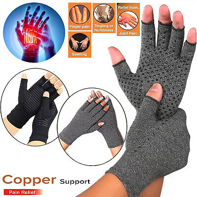 Compression Gloves Arthritis Fit Hand Support Copper Relieve Joint Pain Relief Q