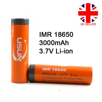 IMR 18650 Battery 3.7V 3000mAh Lithium Li-ion Rechargeable Batteries Cells