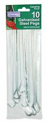 Kingfisher Galvanised Steel Tent Ground Pegs (Pack of 10), Silver