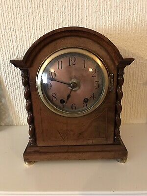 Incredibly rare superb Walnut Cased Ting Tang Clock Small Pre-portions By W&H
