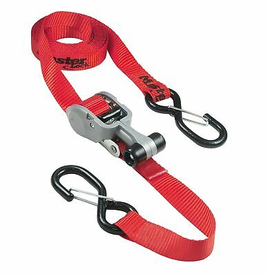 MasterLock 3236E Ratchet Tie Down with S-Hook - Red