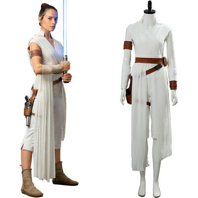 Star Wars 9 The Rise of Skywalker Rey Cosplay Halloween Costume Uniform Suit