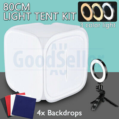Photography 80cm Tent Soft Box LED Ring Light Lighting Kit Studio Backdrop Video
