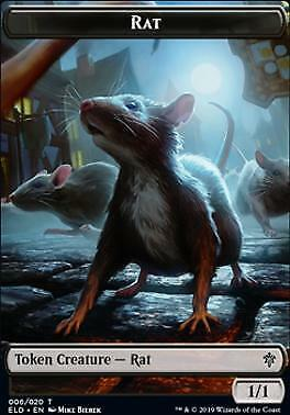 MTG Magic: The Gathering - Throne Of Eldraine Rat/Food (Token Foil)