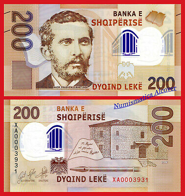 ALBANIA 200 Leke 2017 (2019) Replacement Low number Pick NEW SC / UNC