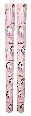 Christmas Gift Wrap Wrapping Paper Rolls 2 x 3m Unicorn Design Present Gifts
