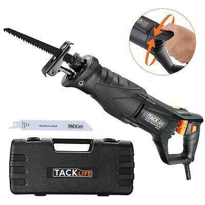 TACKLIFE Reciprocating Saw, 850W 2800SPM Sabre Saw with Rotary Handle(90° Lef...